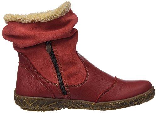 El Naturalista N758 Soft Grain-lux Suede Bois / Nid, Bottes Courtes Femmes Rouge (tibet)