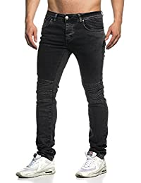 Tazzio Biker Style Jeans pour Homme 16509Anthracite