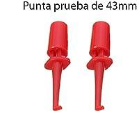 2x Punta Rojas de Prueba Redonda con Gancho. Test Hook Clip