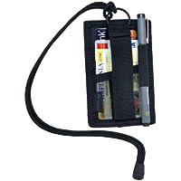Hazard 4 - Portacarte con cordino e portachiavi, colore: Nero