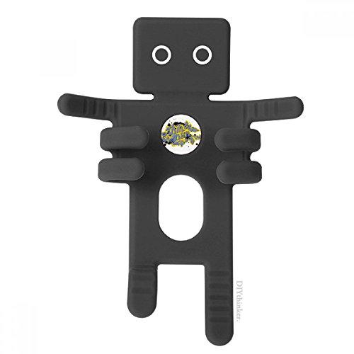 DIYthinker Hip-Hop Rock and Roll Bin Box-Muster-Schwarz-Telefon-Einfassung Auto-Armaturenbrett-Halter für Handy-Geschenk