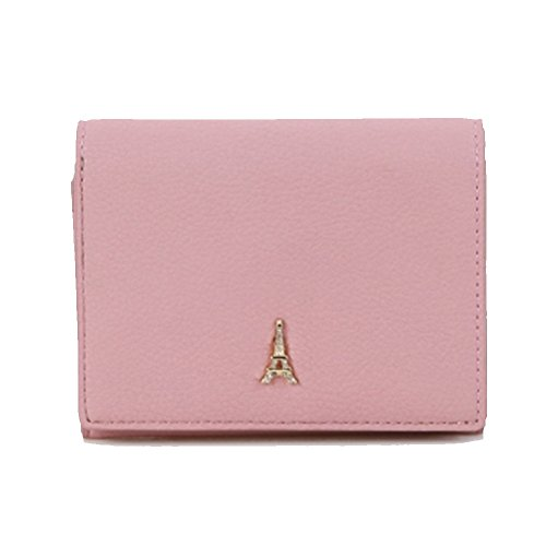 Credit Card Case Wallet Holder Purse ID Window Zipper with Women's Pouch (Indi Pink) (Womens Leather Card Holder)