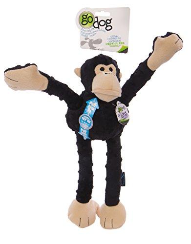 goDog Crazy Tugz Hundespielzeug AFFE, robust, zum Kauen und Ziehen, Plüsch, groß, - Zum Ziehen Hundespielzeug