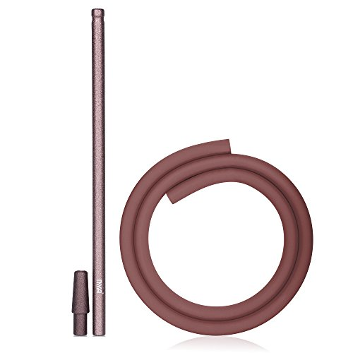 MYA Shisha Schlauch Set Stick Bronze Komplett Set Silikonschlauch Soft Touch -