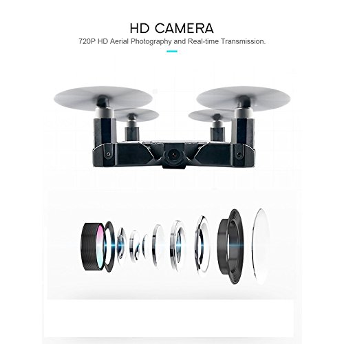 JJRC H49 SOL 0.95cm Ultradünne Auto Faltbare Selfie Drone 720P WIFI FPV mit Beauty Höhenhaltung Modus Kopfloser Modus RC Quadcopter RTF - Schwarz - 5