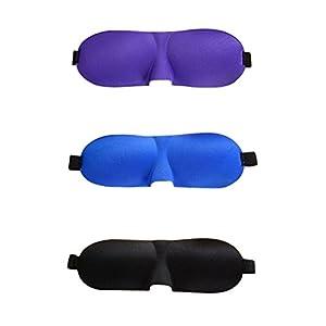VORCOOL 3 stücke Schlafmaske Leichte Komfortable Super Weiche Einstellbare 3D Konturierte Augenmasken Nacht Augenbinde Eyeshade für Schlafen Reise Shift Arbeits Nickerchen