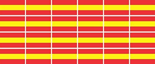 Mini Aufkleber Set - Pack glatt - 33x20mm - selbstklebender Sticker - Spanien - Flagge / Banner / Standarte fürs Auto, Büro, zu Hause und die Schule - 24 Stück -