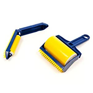 Gadgetbucket Reusable Washable Sticky Buddy Lint Brush Roller Clothes Fluff Fur Hair Remover
