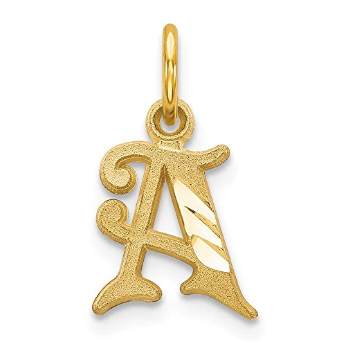 Roy Rose Jewelry 14K Gelb Gold Buchstabe Initiale A Charm (Charms Initial)