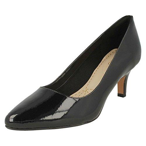 Formale Schuhe 4 (Clarks Isidora Faye Womens Breiten APPLELOVE Pumpen 4 E (W) UK/ 37 EU Schwarz Lack)