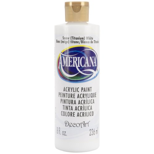 DecoArt Americana Mehrzweck-Acrylfarbe, 59 ml, Snow Titanium Weiß