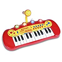 Bontempi 12 2931 24 Key Electronic Keyboard with Microphone, Multi-Color