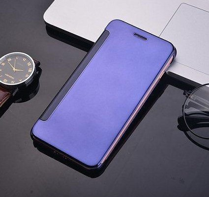 iPhone 7 Coque cas de secousse Pacyer® Housse protection Clip translucide Protection Case pour Apple iPhone 7 flip cover view Case PC Cover Violet