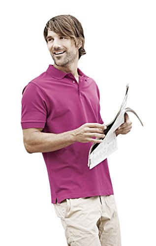 TJ1405 Mens Stretch Deluxe Polo Berry