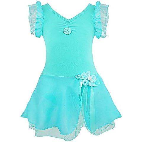 YIZTIF XS-XXL Vestido De Tutú Ballet Vestido De Danza Malla Traje De Lujo Para Las Niñas 2-12