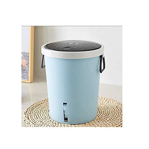 SDHKE Edelstahl Schritt Abfalleimer mit Geruchskontrollsystem, Liter Pedal Müllbehälter for Küche, Büro, zu Hause (Color : Blue)