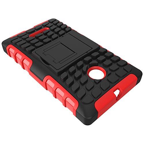 YHUISEN Lumia 435 Case, Dual Layer Rüstung Stoßdämpfender Schutzhülle mit Kickstand Für Microsoft Lumia 435 ( Color : Pink ) White