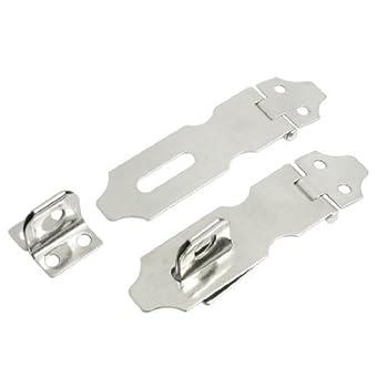 Hardware Pièces en métal argenté fermoir cadenas 7,6cm Long 2jeux