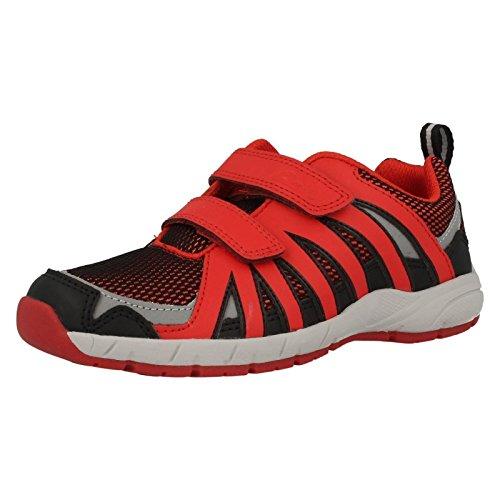 Clarks Kreuz Hype Infant Jungen Sneaker Rot / Schwarz GROGtxoQsE