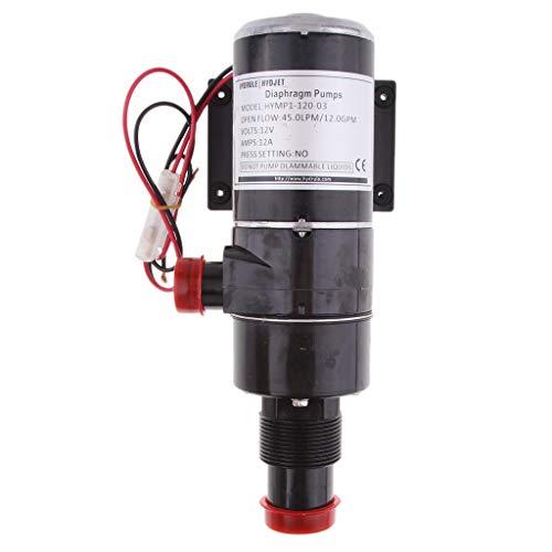 perfeclan 12v Zerkleinerer Wasser Abfall Pumpe Tauchpumpe Brunnenpumpe Brunnen Tief Rohrpumpe Membranpumpe -