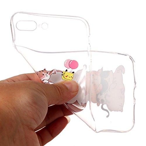 "Coque pour Apple iPhone 7 Plus , IJIA Transparent Mignon Licorne TPU Doux Silicone Bumper Case Cover Shell Housse Etui pour Apple iPhone 7 Plus (5.5"") XY15"