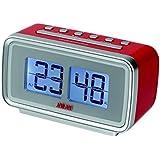 AKAI - AC -141R - Radio Réveil - Tuner Digital avec Présélection - Affichage Flip -Flap Rouge