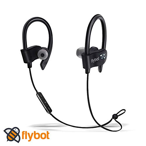 Flybot Wave in-Ear Sport Wireless Bluetooth Earphone with Mic and IPX4 Sweatproof – (Black)