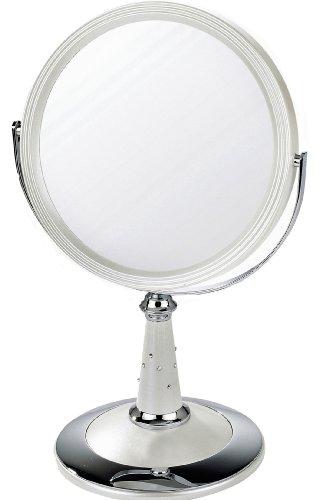 Miroir danielle chrome - Miroir sur pied blanc ...