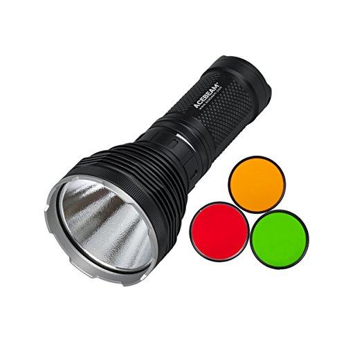 Preisvergleich Produktbild AceBeam K60 CREE XHP70 5000 Lumen 700 Meter LED Taschenlampe mit 3400mAh Aufladbare Akku and 3x Filter