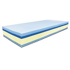 Baldiflex -  Materasso Singolo Memory Plus Top Fresh 4 Strati 80 x 190 cm Alto 25 cm - Rivestimento Sfoderabile Silver Safe Cus. Saponetta Incl.