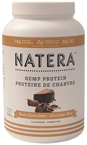 NATERA kanadisches Hanfprotein Schokoladen Flavour Vegan o. Milch Soya u. Gluten ca. 50% Proteine ca. 10% Omega 3u6 mit 18 Aminosäuren, 908 g (Schokoladen-vanille-milch)