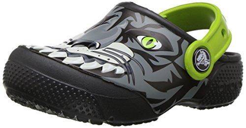 crocs Unisex-Kinder Funlabclogk Clogs, Mehrfarbig (Tiger/Graphite), 25-26 EU