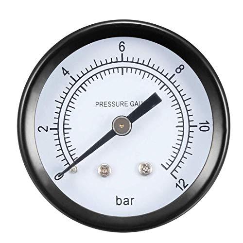 ZCHXD Pressure Gauge, 0-12 Bar Dual Scale, 1.8