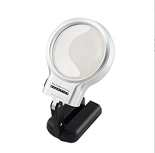 Portable Pliable Portable LED Lampe de lecture avec loupe Report