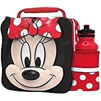 Disney Minnie Mouse Childrens Thermal 3D School Lunch Bag, 28 cm, Red