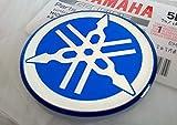 100% GENUINE 40mm Diametro YAMAHA TUNING FORCELLA Decalcomania Adesivo Emblema Logo BLU In rilievo A cupola A Gel Resina Autoadesivo Moto / Sci Nautico / ATV / Motoneve