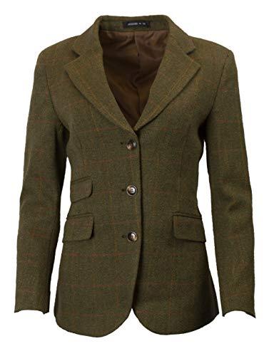 Nach Erde Der Kostüm - Walker & Hawkes Mayland - Damen Blazer aus Tweed - klassischer Country-Stil - Dunkles Salbeigrün - 34