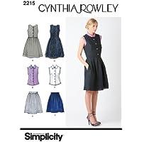 Simplicity 2215 - Cartamodello per vestiti da donna e ragazza della collezione Cynthia Rowley, taglie 38-46