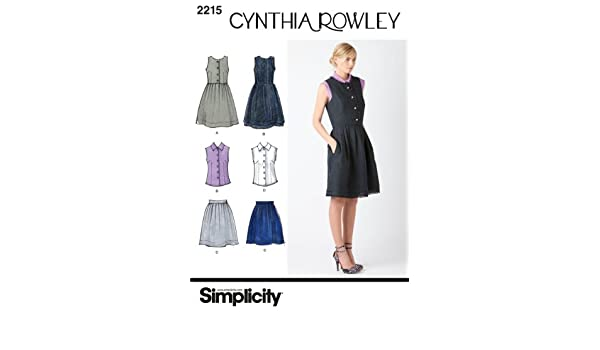Simplicity Schnittmuster 2215 Kleider Damen / Mädchen, Gr. 32-40 ...