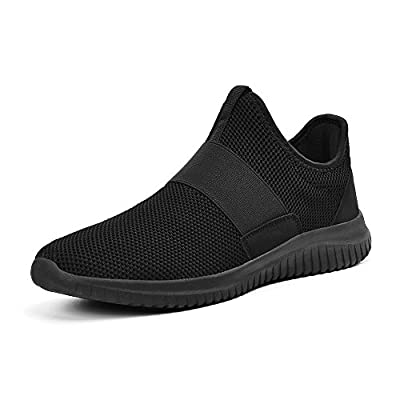 ZOCAVIA Mens Mesh Running Trainers Slip on Vibe Gym Sports Shoes