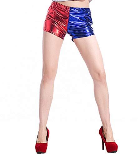 I TRUE ME Harley Quinn Cosplay Jacke Hose Shirt Suicide Squad kostüm Cosplay - Film Idea Geschenk -Hose Shirt,M