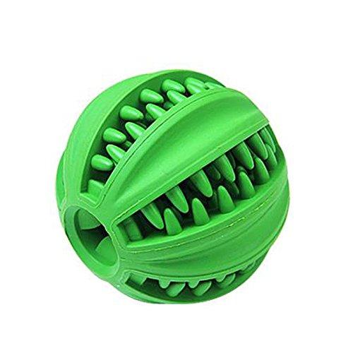 Pet harem- Dog Leakage Ball Haustier Teddy Puppy Dog Spielzeug Hund beißen Ball Biss resistent kleine Größe Golden Retriever Katzenfutter (Farbe : Ball, größe : S)