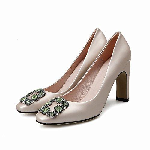 MissSaSa Donna Scarpe col Tacco Spicco Alto Pumps Elegante albicocche