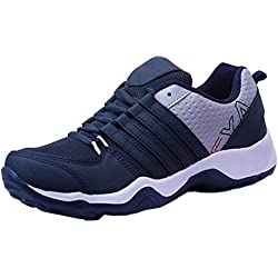 Earton Men Sports Running Shoe (7, Blue)