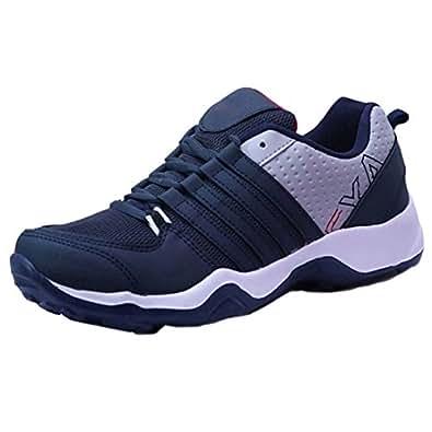 Earton Men Sports Running Shoe (10, Blue)