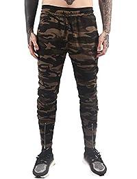 Cebbay Liquidación Pantalones Casuales para Hombres Pantalones Deportivos Ropa de Trabajo Cremallera de Bolsillo de Camuflaje