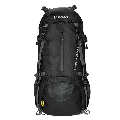 Imagen de lixada 45l+5l impermeable  de senderismo con cubierta lluvia, paquete del alpinismo escalada marcha trekking camping deporte al aire libre