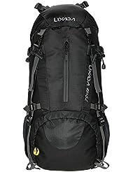 Lixada 50L Trekkingrucksack Wanderrucksack Reiserucksack Rucksack Mit Regenabdeckung Für Outdoor