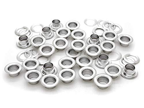 CRAFTMEmore 300 Stück Aluminium Ösen mit Unterlegscheiben Avail 3 Größen für Schuhe, Perlenkern, Kleidung, Leder, Canvas 0.16