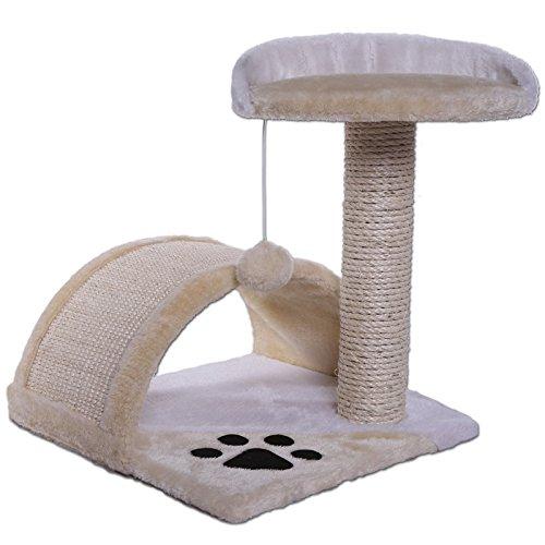 Dibea KB00103 Árbol para Gatos, Rascador Pequeño, Altura 43 cm, Color Beige y...